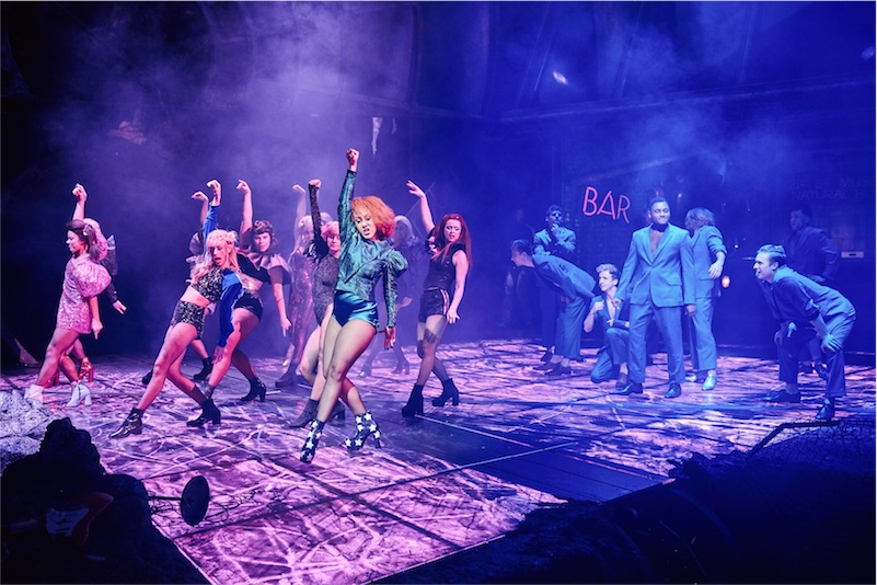 Danielle Steers (front, centre) as Zahara in BAT OUT OF HELL - THE MUSICAL, credit Specular