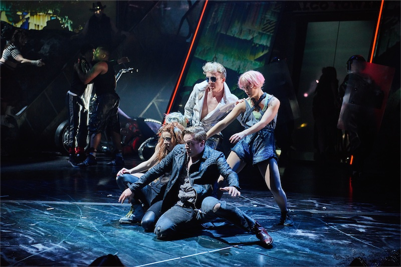 Front - Patrick Sullivan as Blake in BAT OUT OF HELL - THE MUSICAL, credit Specular