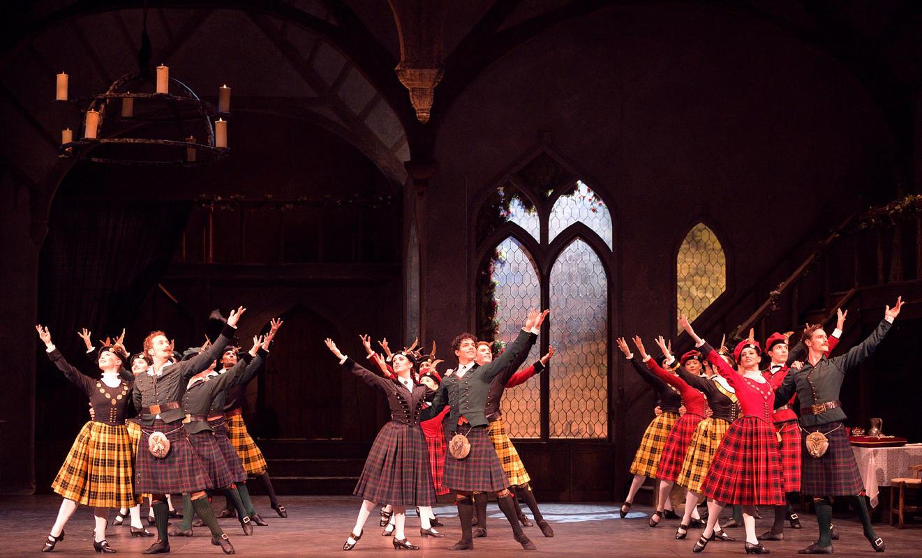 Artists of English National Ballet in La Sylphide ® Laurent Liotardo