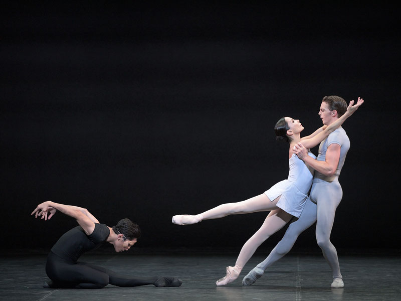 Tamara Rojo, Jeffrey Cirio and Joseph Caley in Song of the Earth ® Laurent Liotardo