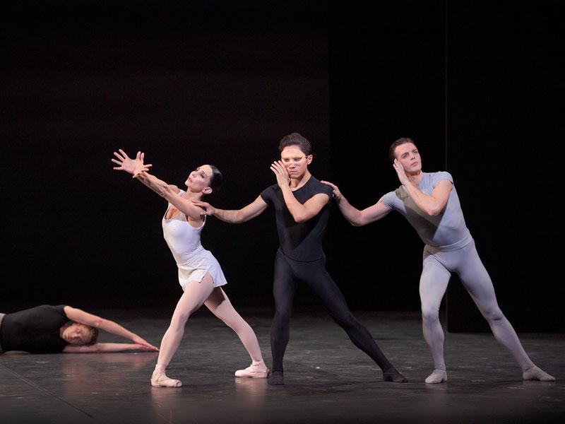 Tamara Rojo, Jeffrey Cirio and Joseph Caley in Song of the Earth ® Laurent Liotardo