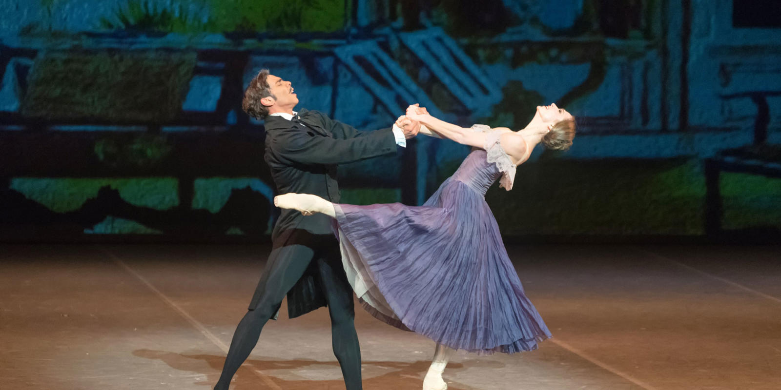 Polina Semionova and Jason Reilly in Onegin. Photo by Marc Haegeman