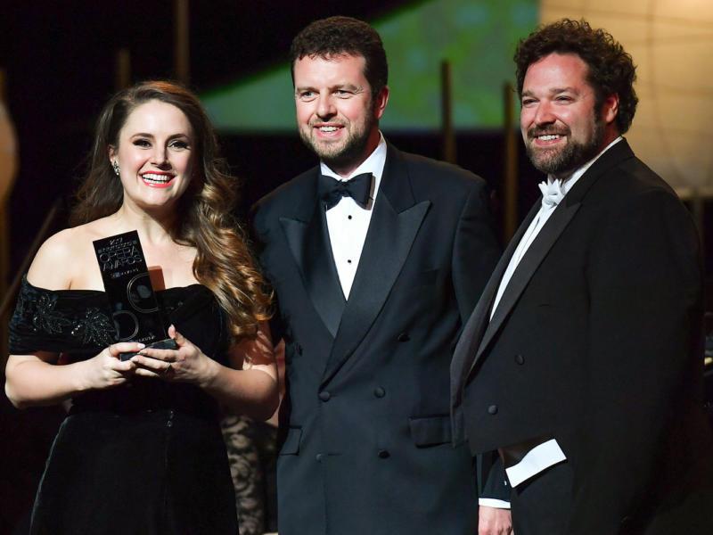 Louise Alder winning Young Singer at the 2017 International Opera Awards