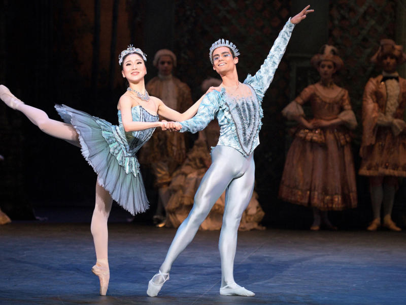 A production image from English National Ballet's 2018 performance of The Sleeping Beauty