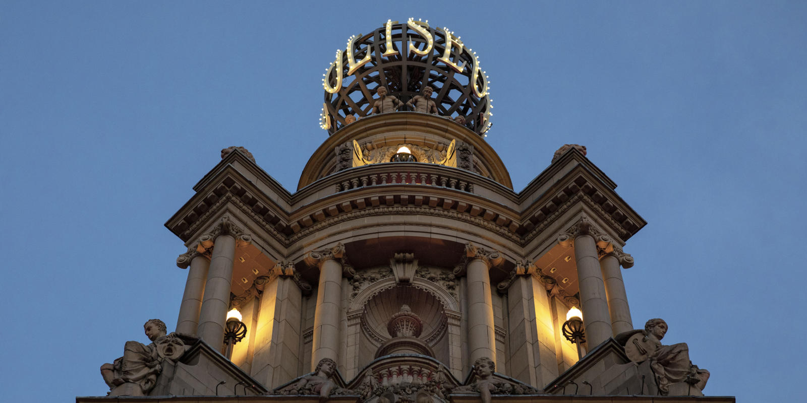 London Coliseum Globe at Night